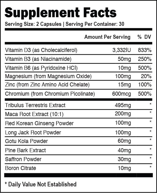 vasostam-supplement-facts